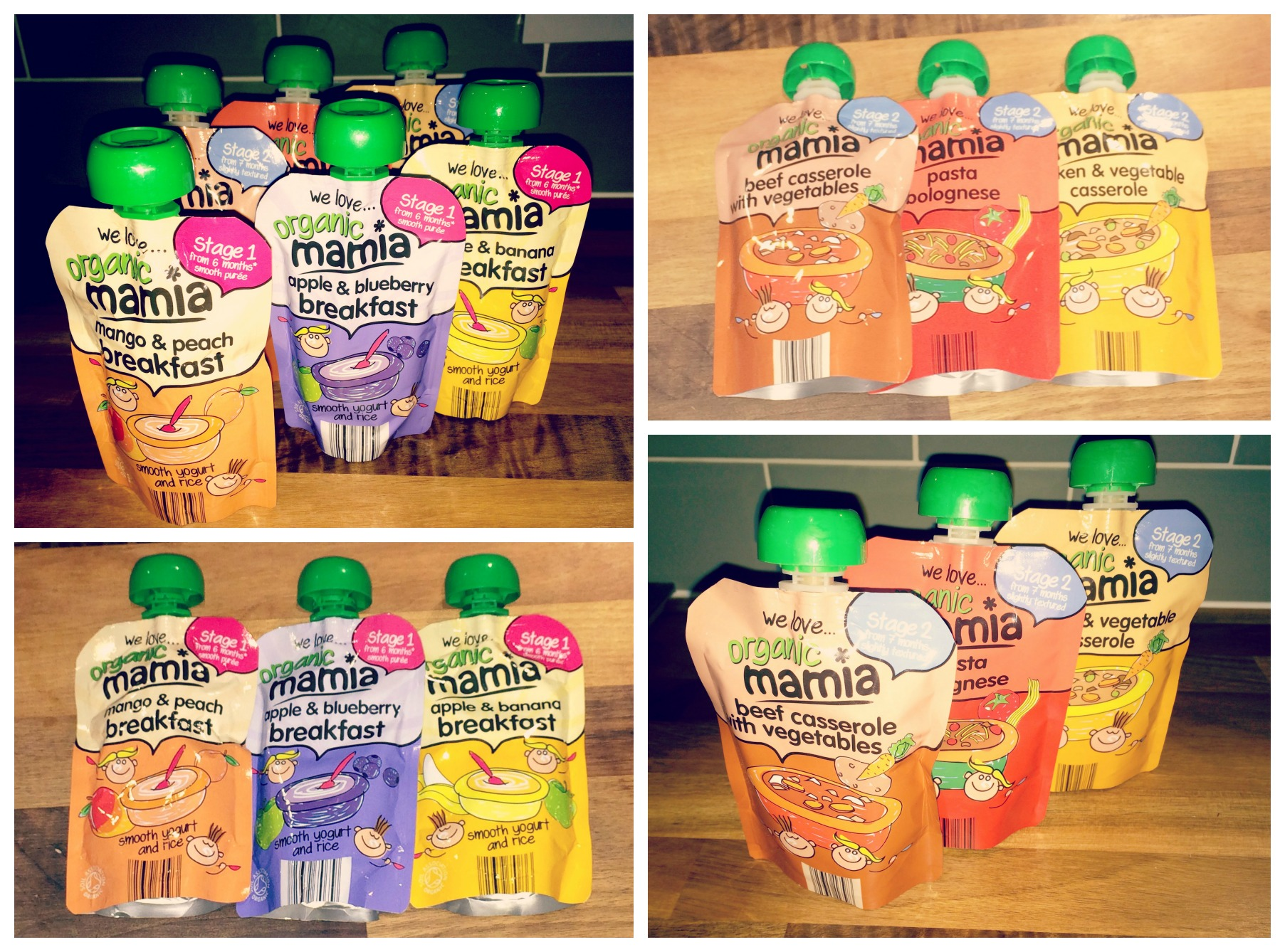 aldi baby food pouch collage