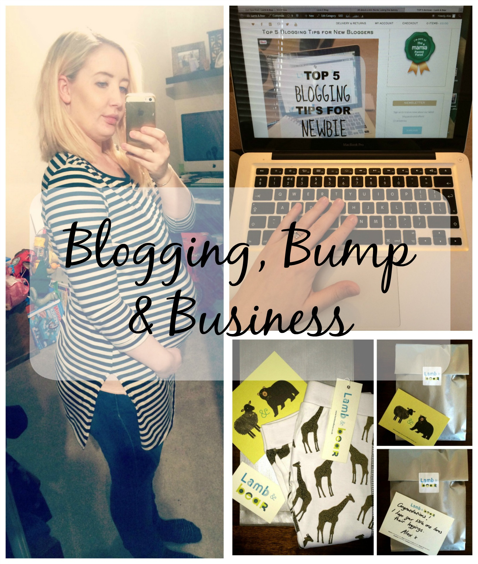 blogging bump and business pin