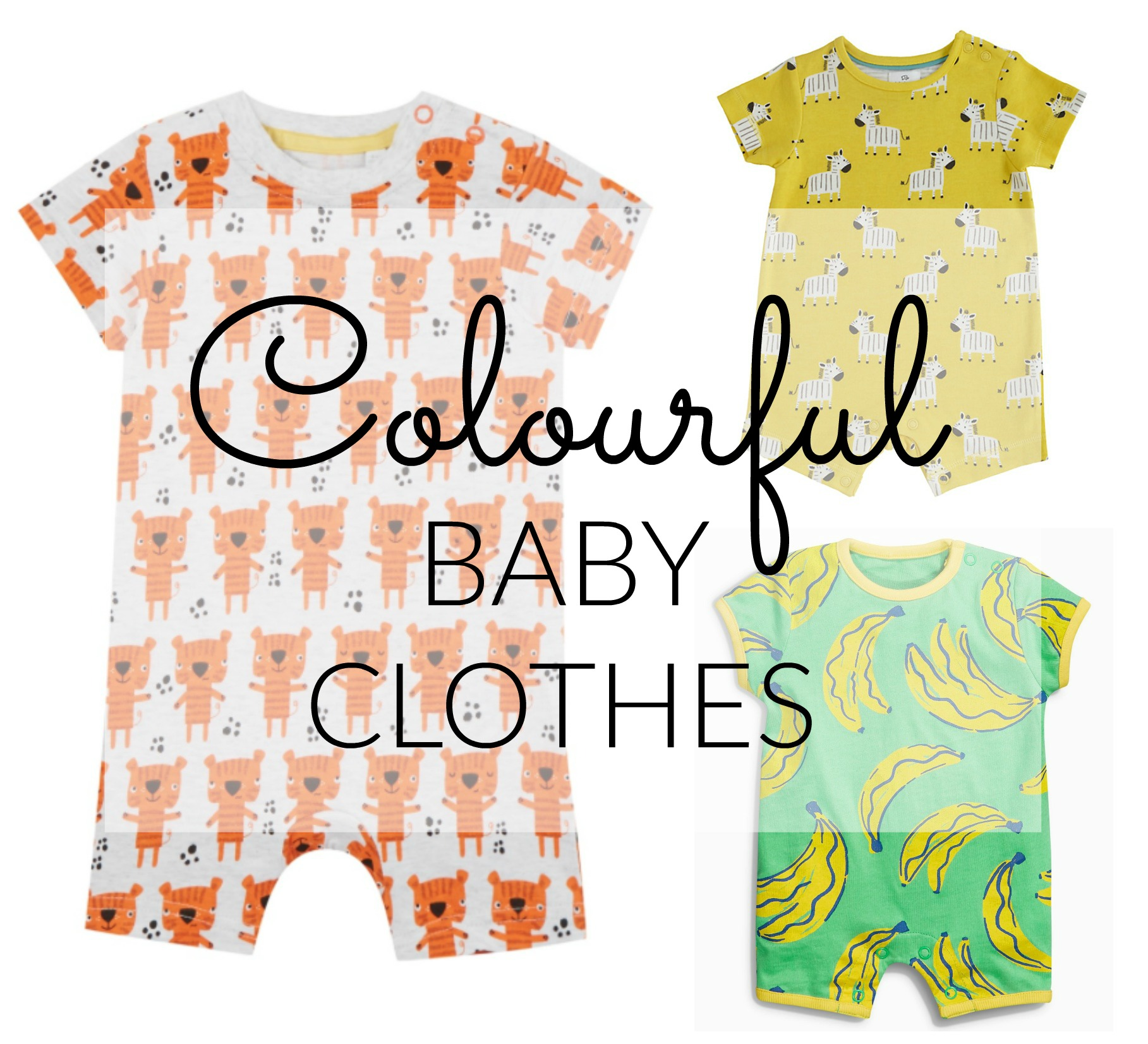 Bright Colourful Baby Clothes for Summer Lamb & Bear