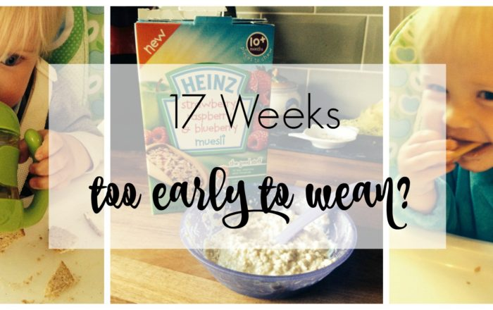 17 Weeks Old – Too Early To Wean?