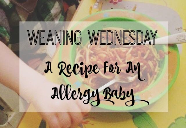 Weaning Wednesday: A Recipe For An Allergy Baby {Guest Post}