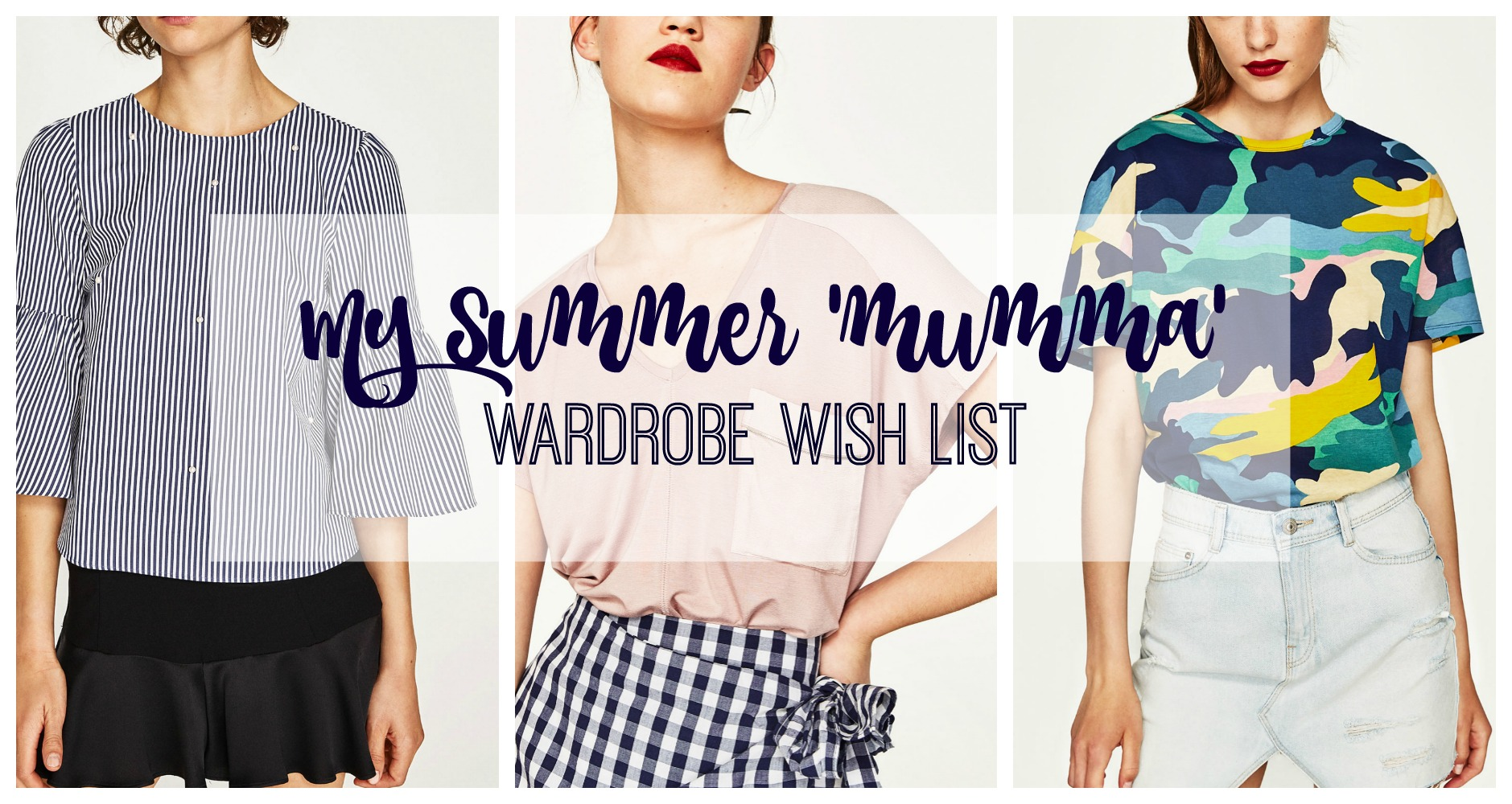 summer wardrobe wish list title