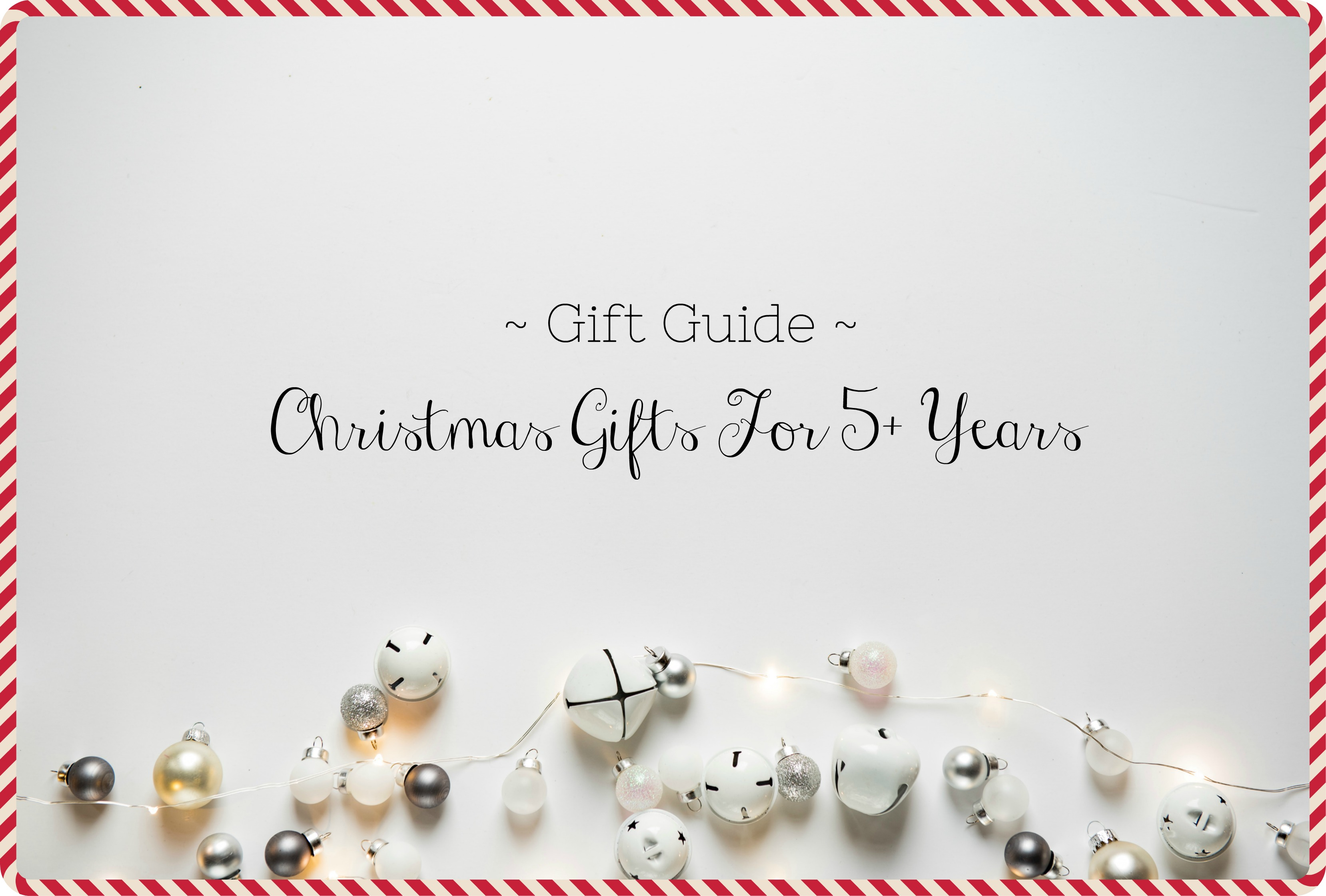 Christmas gifts 5 years title