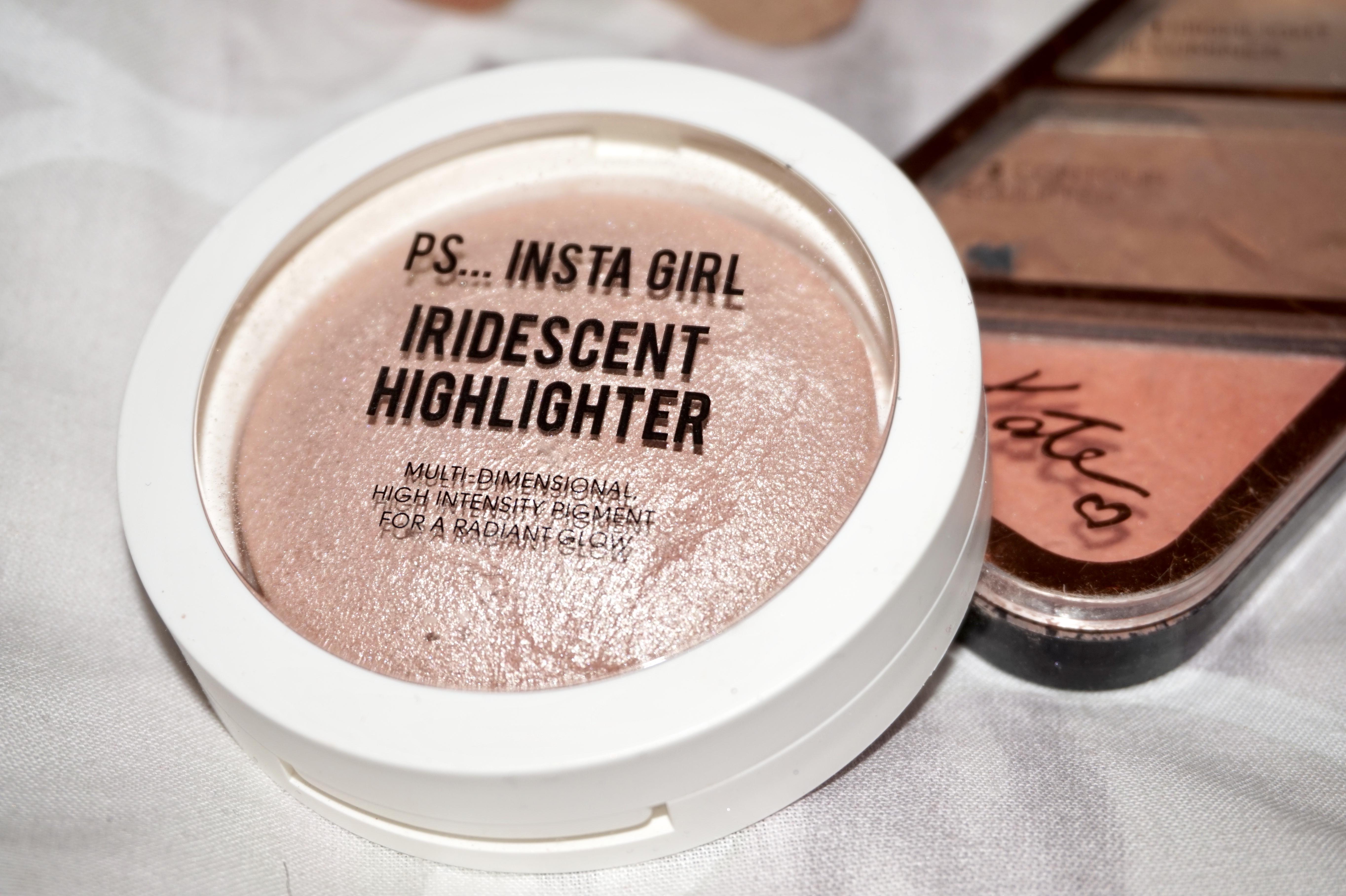 splash of glam make-up highlighter and blush
