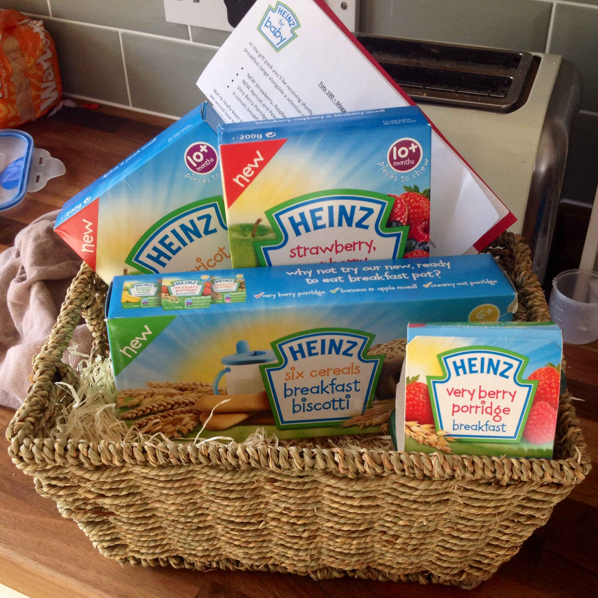 Lamb Bear And Heinz Baby Food We Were Very Lucky To Receive A Breakfast Hamper Last Week Full Of Delicious Goodness For The Littleuns Try