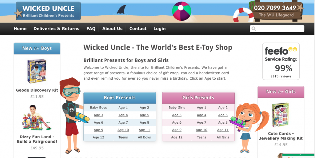 Wicked Uncle Homepage