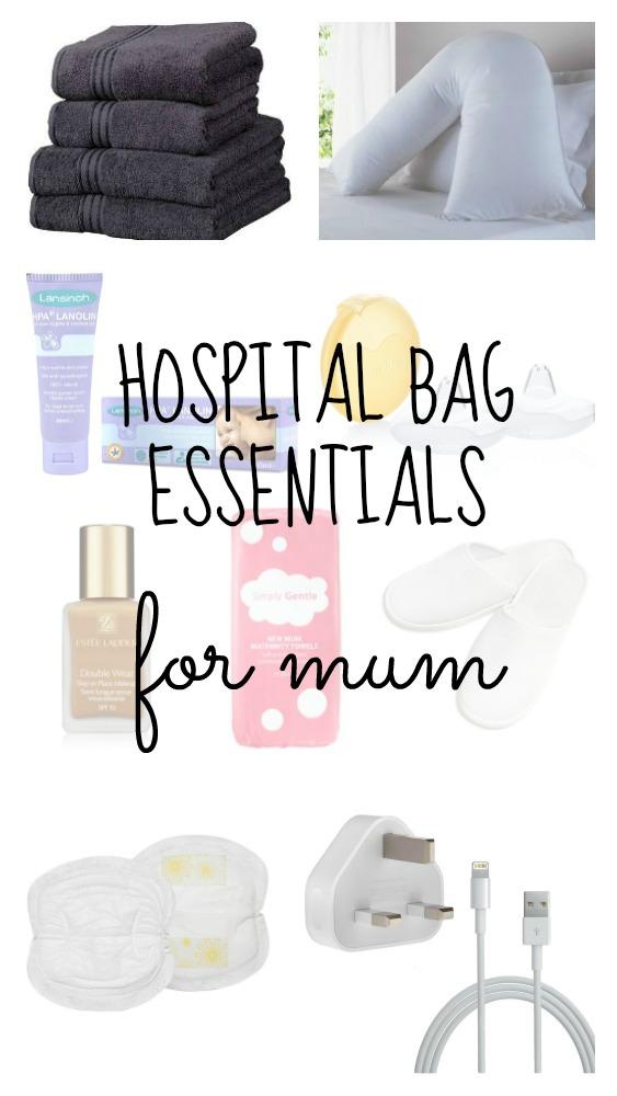 hospital bag essentials for mum pin