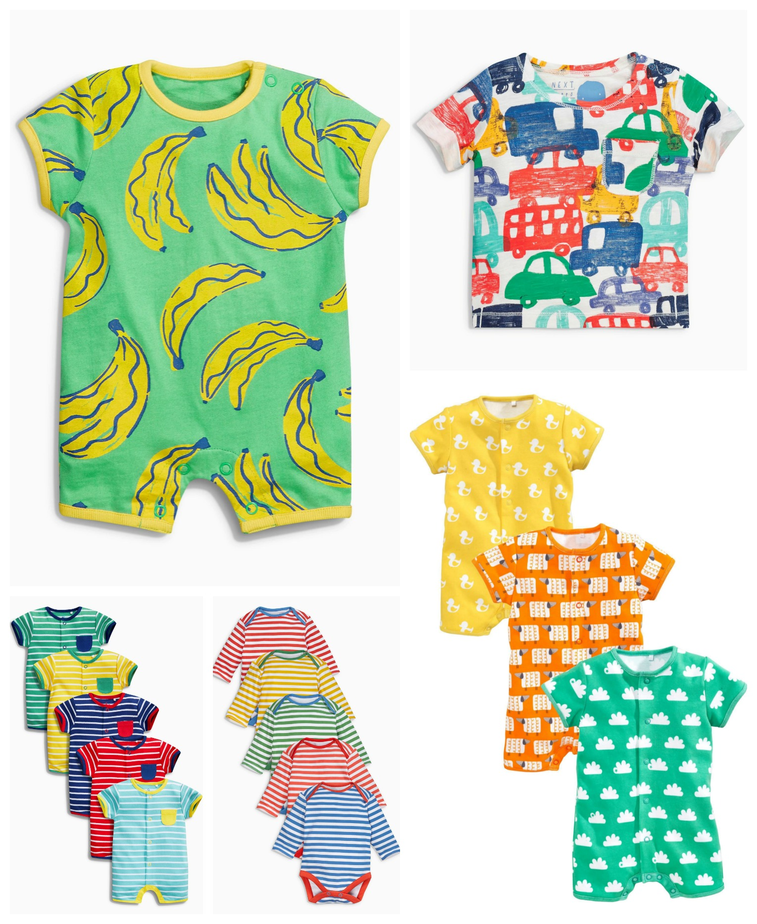 NEXT colourful baby clothes