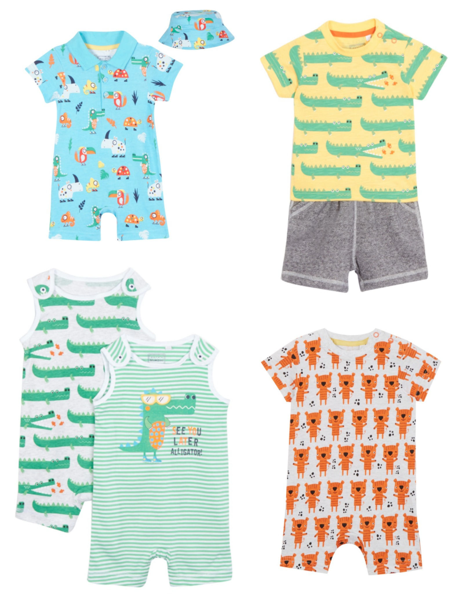 bluezoo colourful baby clothes