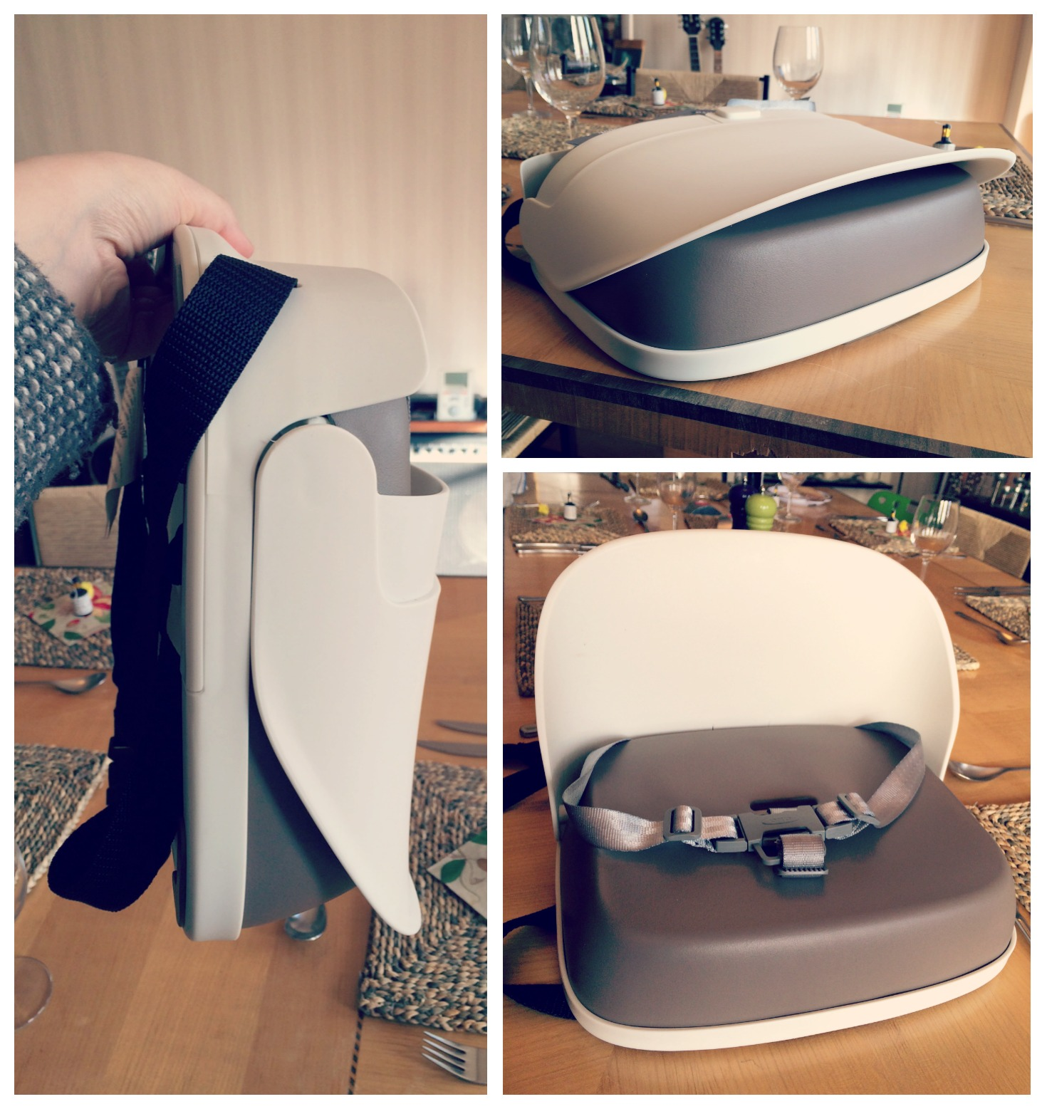 64ce6731fc14 As we live in a small house I love products that fold away or are compact.  The OXO tot Perch Booster seat does exactly this as you can see above.