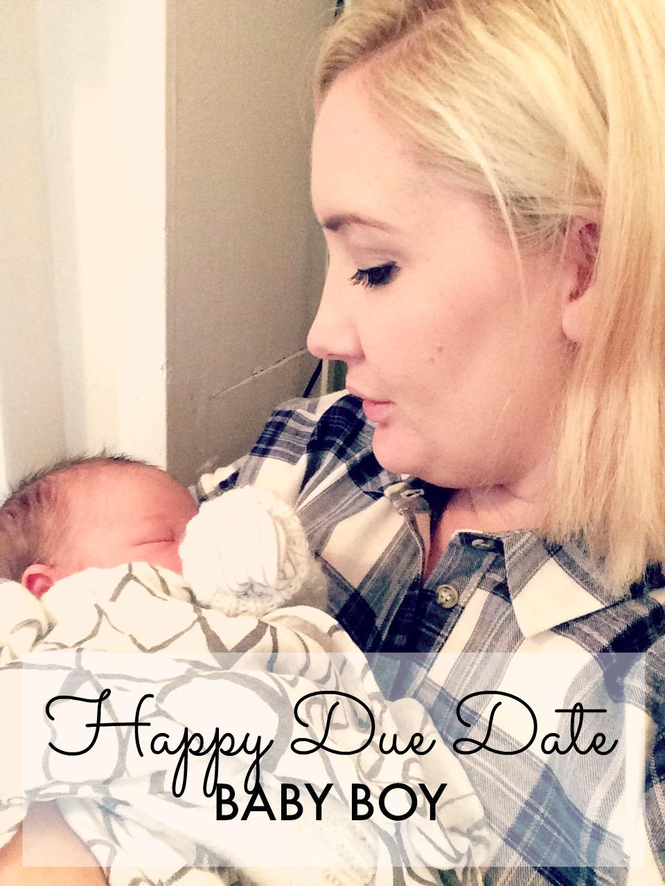 DUE DATE BABY BOY PIN