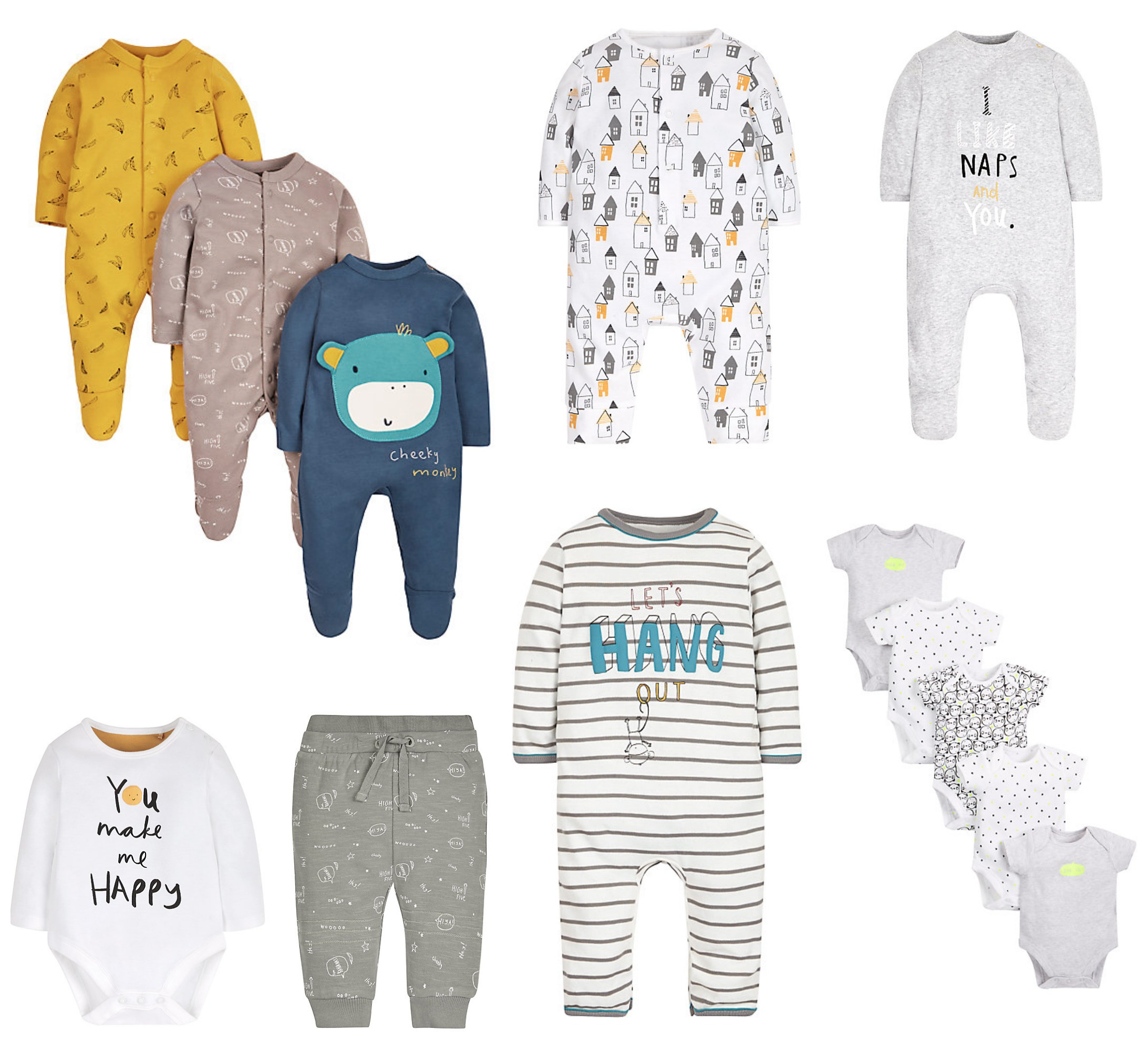 mothercare baby collage