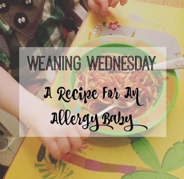 allergy recipe title