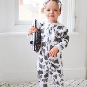 lamb and bear zippy sleepsuit gift set
