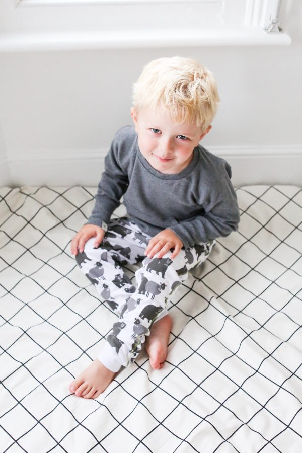 lamb bear cotton printed leggings