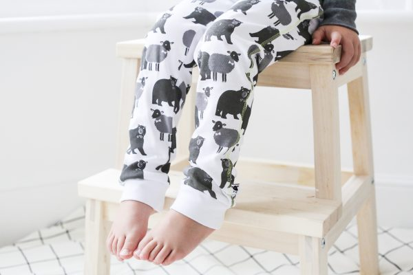 lamb bear cotton printed leggings legs