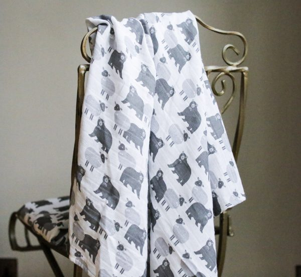 swaddle blanket over chair