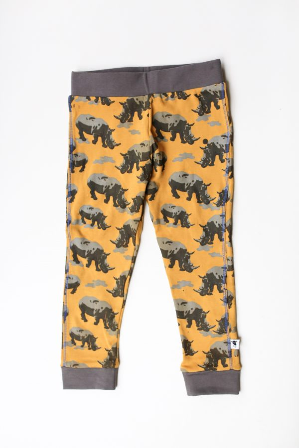 rhino cotton printed leggings flat