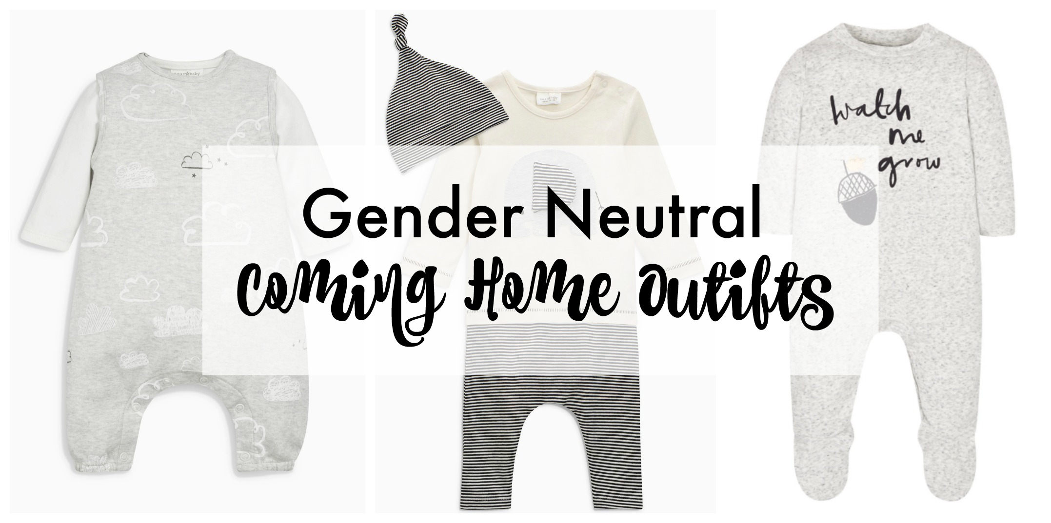 cd679cfd6 Gender Neutral 'Coming Home' Outfits - Soft Colours - Lamb & Bear