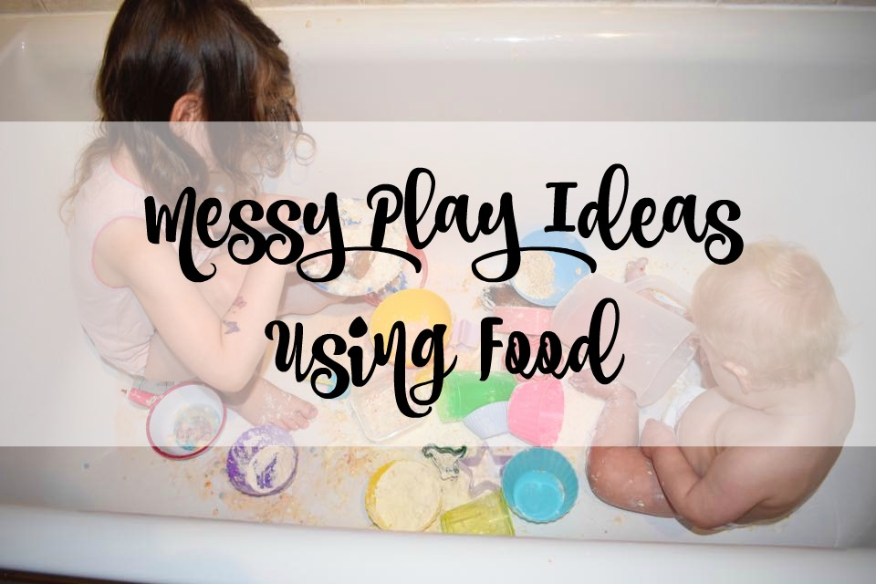 messy play ideas using food
