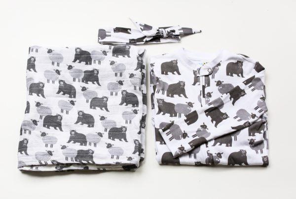 lamb and bear baby gift set