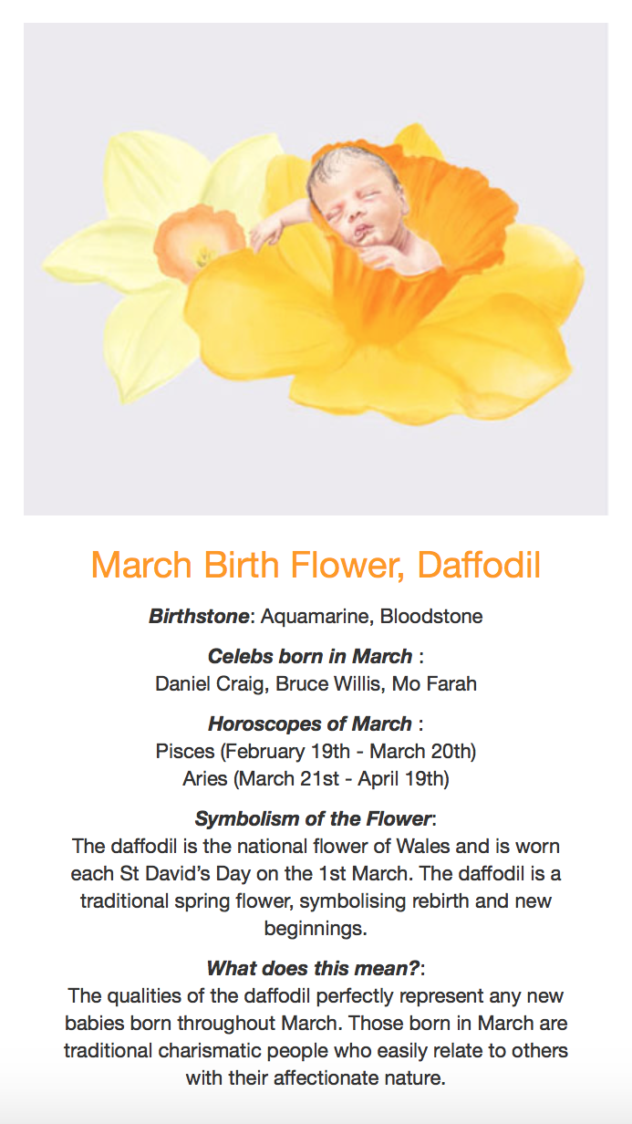 birth flower march horoscope