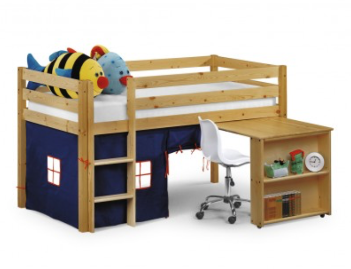 reading space - mid sleeper bed with tent
