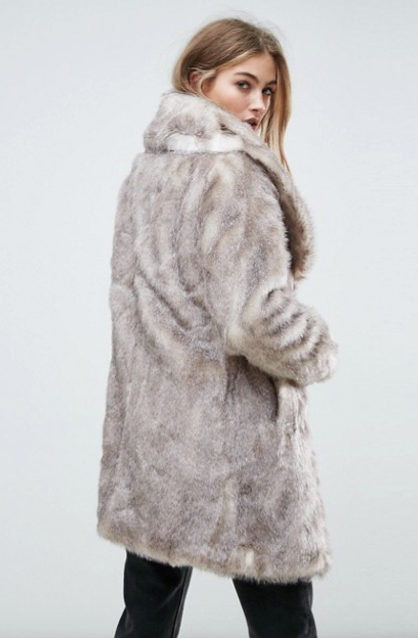 Christmas gift guide faux fur coat