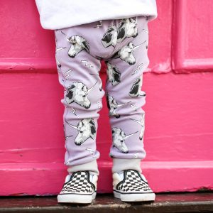 printed leggings purple unicorn