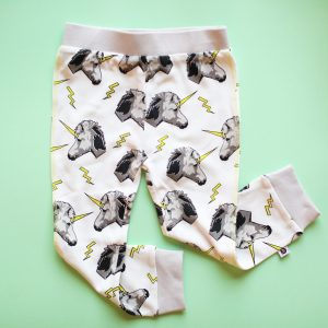 printed leggings white unicorn