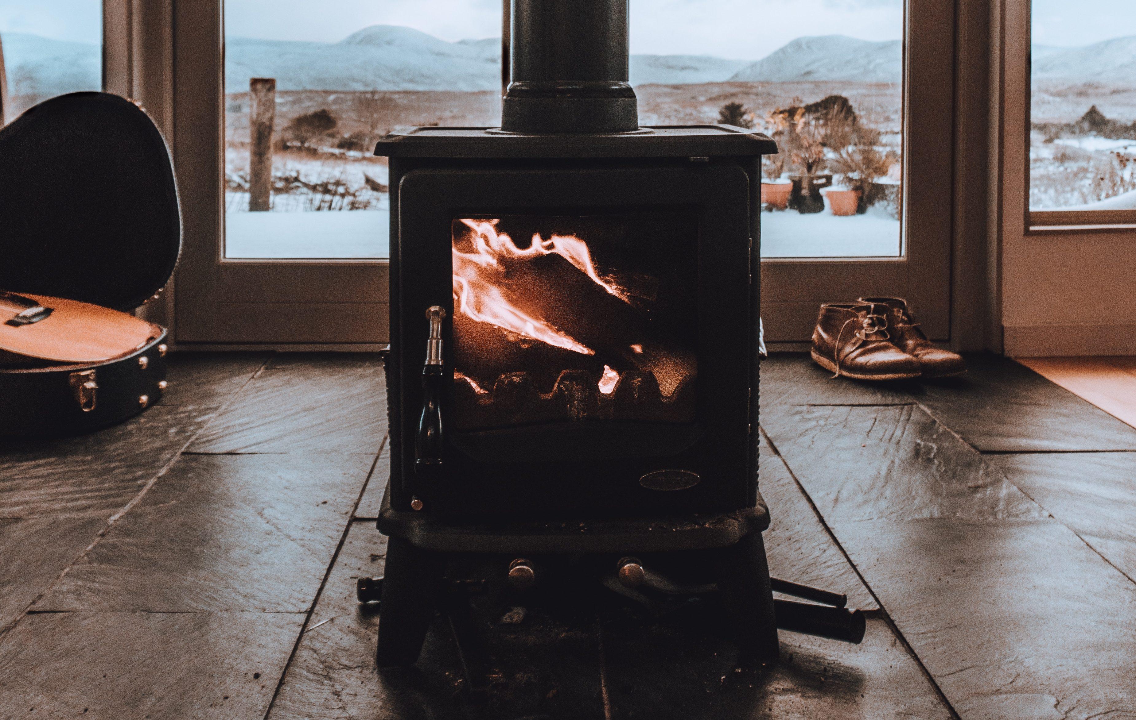 its a bit chilly - log burner