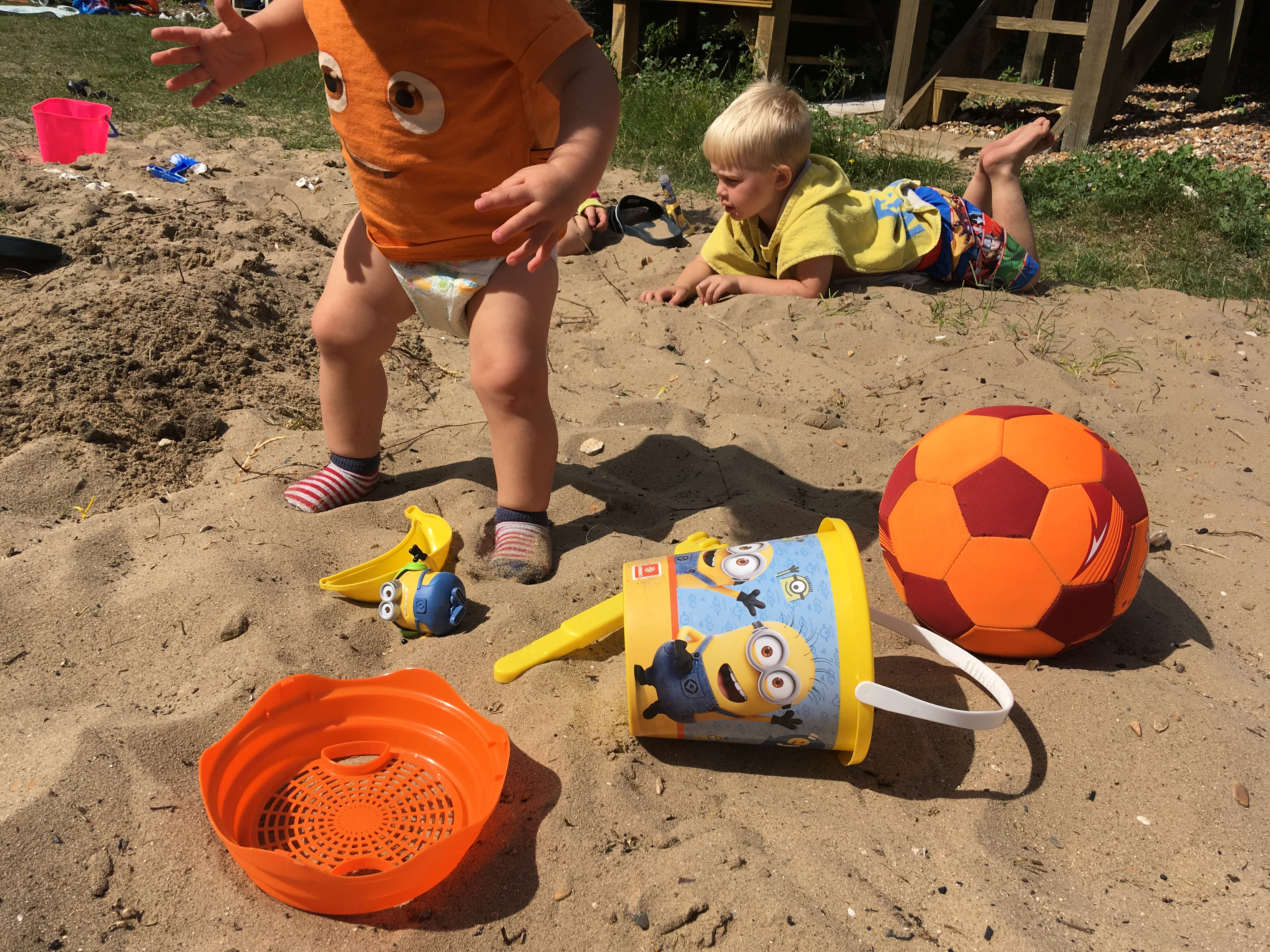 sandcastles at the beach hut