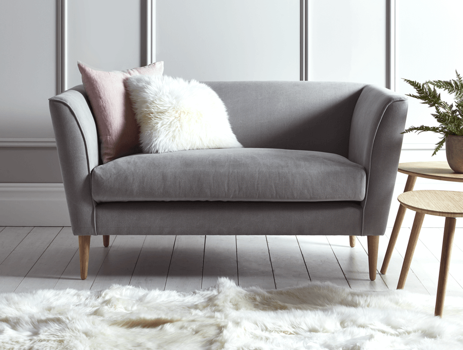 statement sofa grey