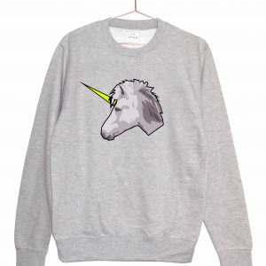 UNISEX-GREY-UNICORN