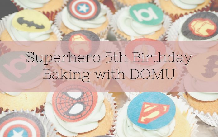 Superhero 5th Birthday Baking with DOMU