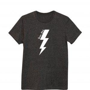 dark heather grey t-shirt super dad