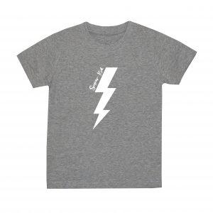 super kid grey white tshirt