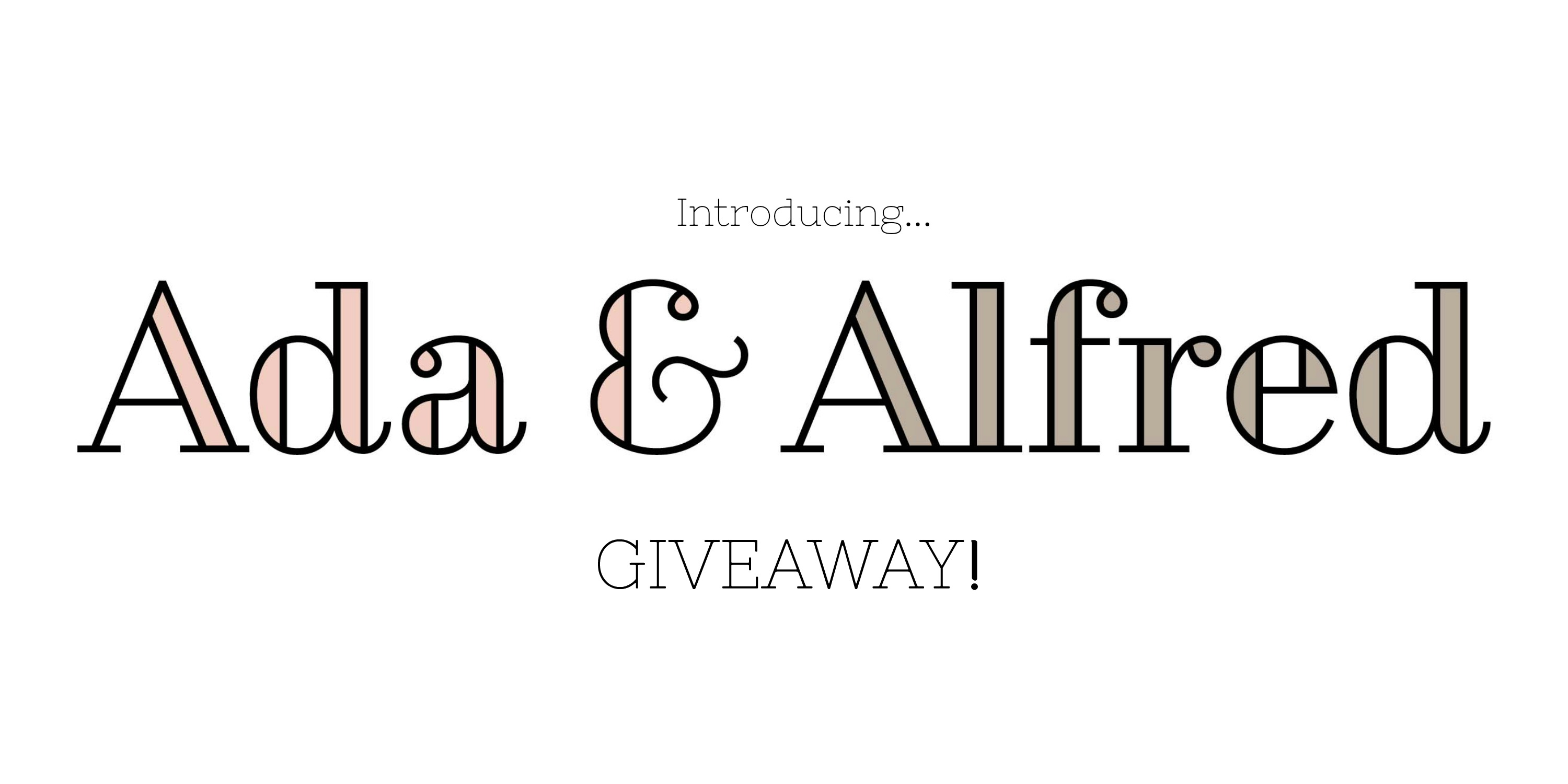 ada and Alfred giveaway title